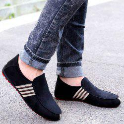 Striped Slip On Casual Shoes