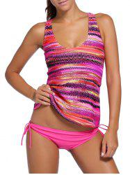 Scrunch Side Cross Back Three Piece Tankini Set