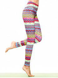 Tribal Print Skinny Sporty Leggings -