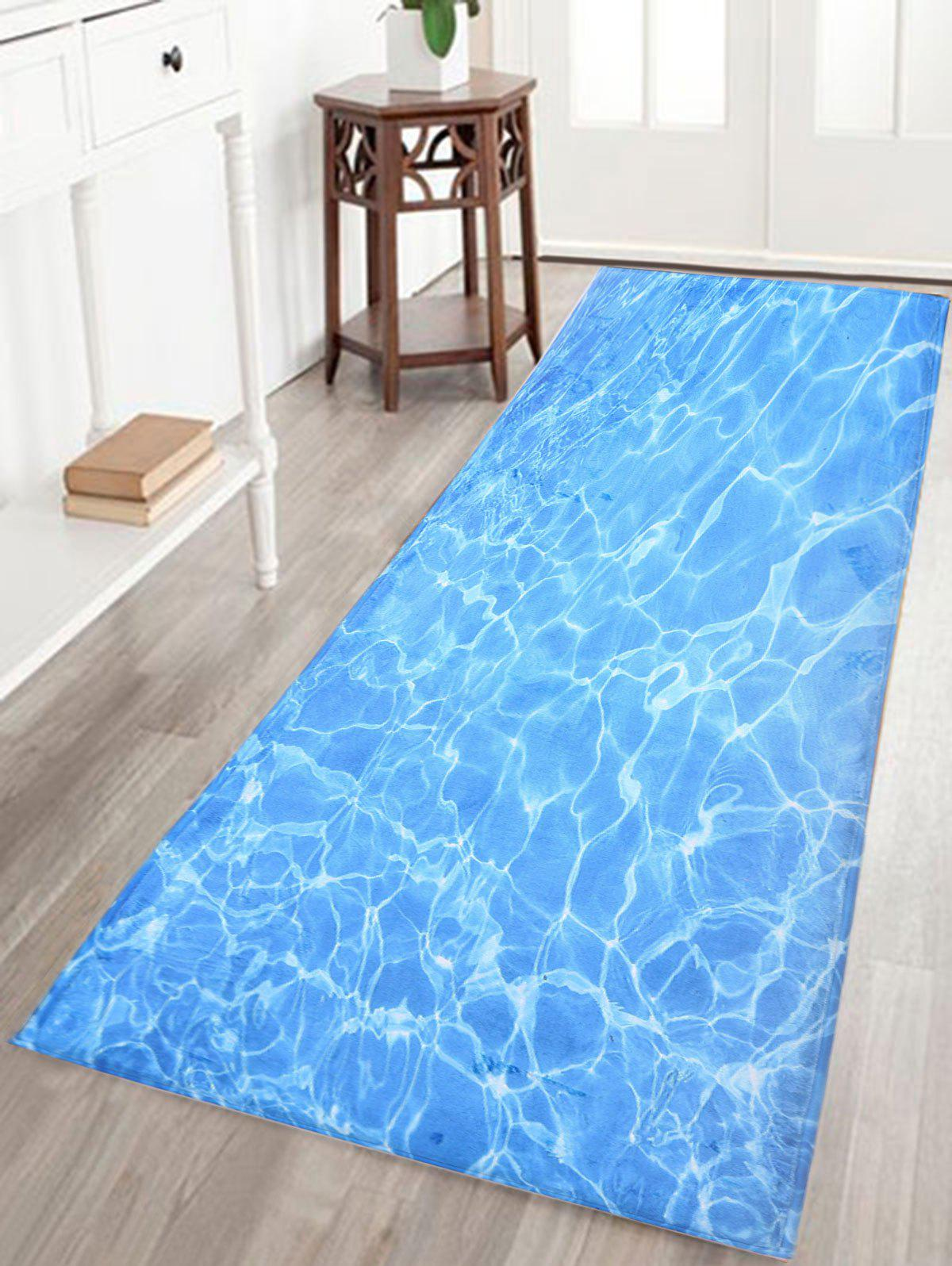 2019 Water Wave Print Bathroom Skid Resistant Bathroom Rug