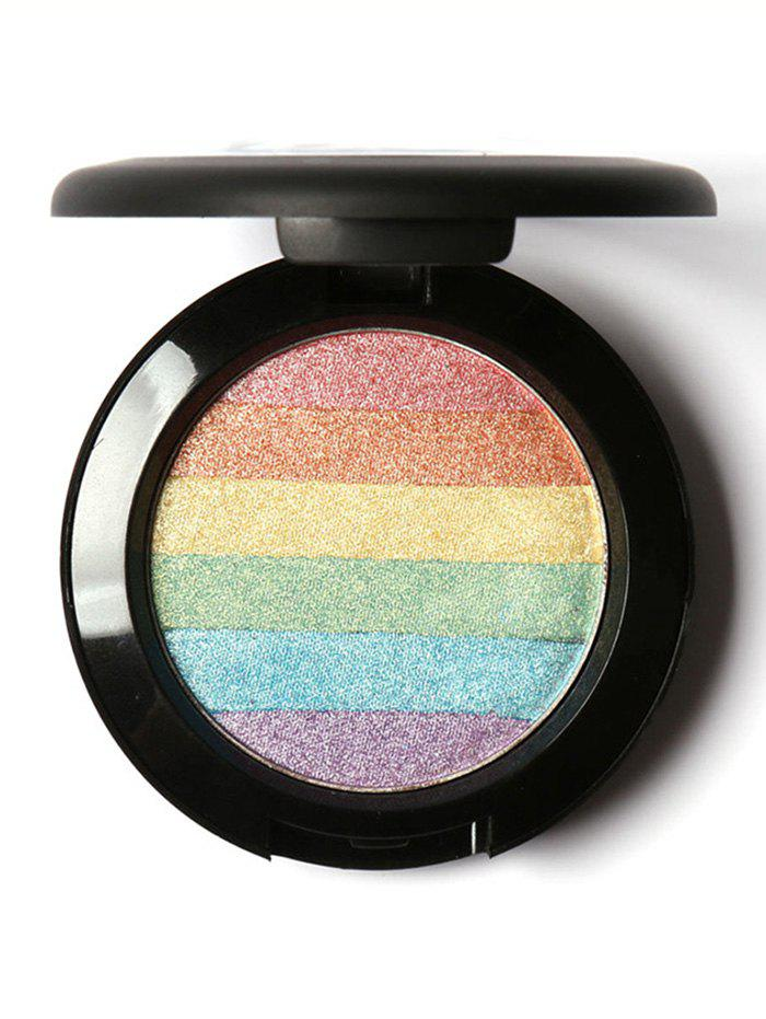 Shimmer Soft Mineral Rainbow Palette Highlighter PowderBEAUTY<br><br>Color: COLORFUL; Category: Highlighters&amp;Bronzers; Type: Powder; Features: Limits Bacteria; Season: Fall,Spring,Summer,Winter; Weight: 0.0520kg; Package Contents: 1 x Highlighter;