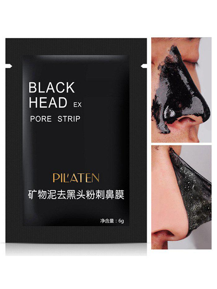 Mineral Mud Blackhead Nose Removal Deep Cleansing MaskBEAUTY<br><br>Color: BLACK; Gender: For Unisex; Item Type: T Zone Care; Feature: Acne Treatment; Use: Nose Mask; Product weight: 0.0070 kg; Package weight: 0.0100 kg; Product size (L x W x H): 1.00 x 1.00 x 1.00 cm / 0.39 x 0.39 x 0.39 inches; Package size (L x W x H): 1.00 x 1.00 x 1.00 cm / 0.39 x 0.39 x 0.39 inches; Package Content: 1 x Blackhead Mask;
