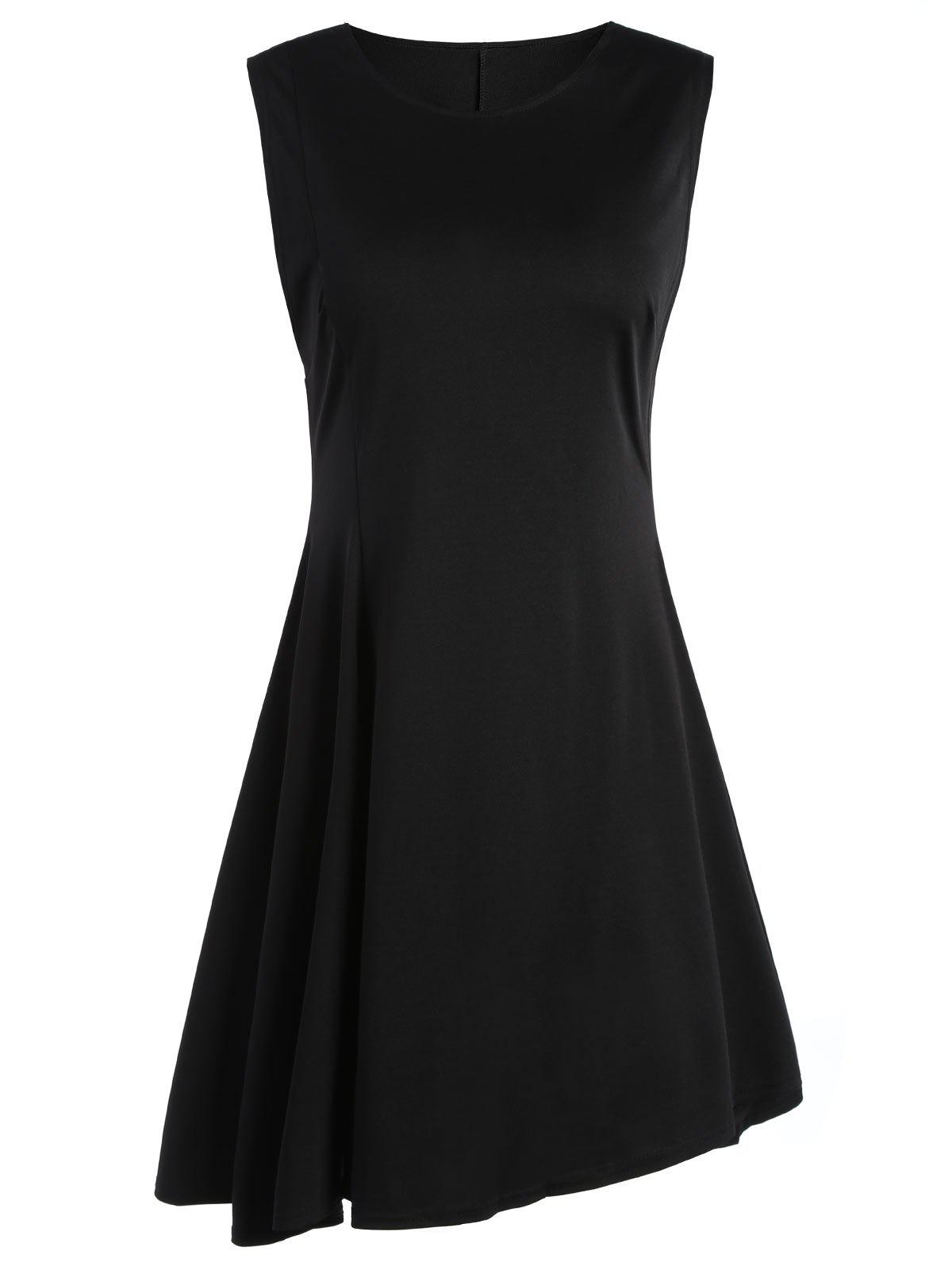 Sale Sleeveless A Line Two Tone Dress
