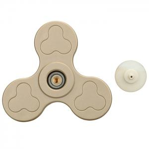 Stress Relief Toy Color Block Triangle Fidget Spinner - GOLDEN