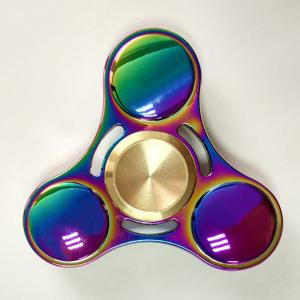 Anti Stress Toy Rainbow Gyro Triangle Fidget Finger Spinner - Multi Color - 6*6cm