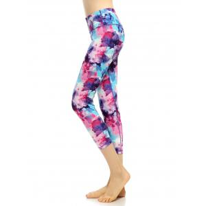 Capri High Waist Printed Funky Gym Leggings