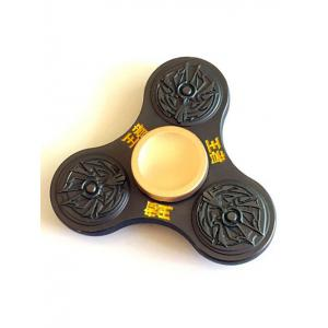 King Three Leaf Fidget Toy Stress Relief Finger Spinner - Black - 6.5*6.5*1.7cm