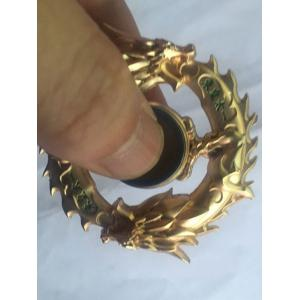 Dragon Ring Focus Toy Fidget Spinner Finger Gyro - GOLDEN