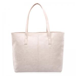 Casual PU Leather Shoulder Bag - Off-white