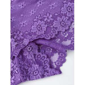 Lace See Thru Panties - Pourpre TAILLE MOYENNE