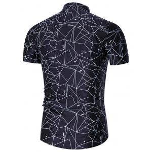 Plus Size Geometric Print Shirt -