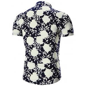 Plus Size Short Sleeve Hawaiian Shirt -