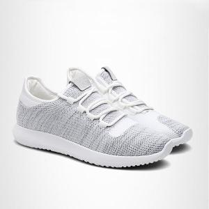 Lightweight Breathable Athletic Mesh Trainers - Light Gray - 44