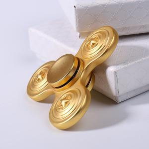 Time Killer Alloy Finger Fidget Spinner with Star Print - GOLDEN 6.5*6.5CM