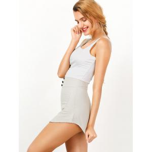 Sleeveless Two Tone Mini Bodycon Sundress -