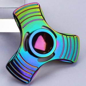 Anti-Stress Toy Colorful Triangle Fidget Metal Spinner - Colormix - 6.5*6.5*1.7cm