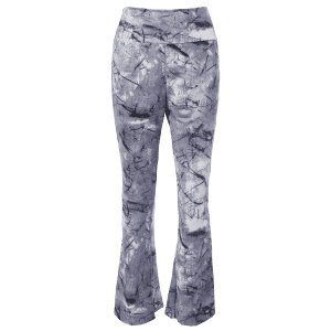 Boot Cut Pants With Chinese Painting Print - COLORMIX XL