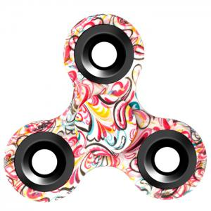 Stress Relief Fiddle Toy Triangle Patterned Fidget Spinner - Colormix - 6*6*1.5cm
