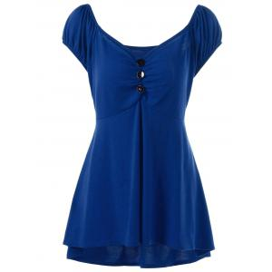 Plus Size Empire Waist T-Shirt with Button