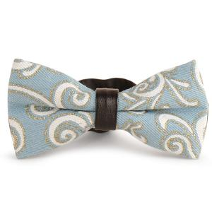 Layer Denim Cirrus Printing Bow Tie - Blue And White - 2xl