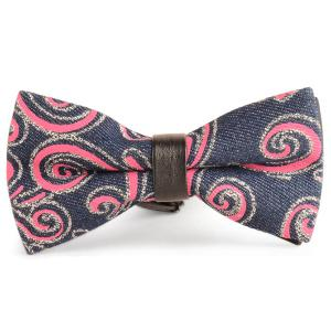 Layer Denim Cirrus Printing Bow Tie - Red - S