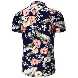 Short Sleeves Plus Size Floral Print Shirt -