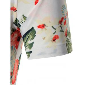 Short Sleeves Plus Size Floral Print Shirt - WHITE 6XL