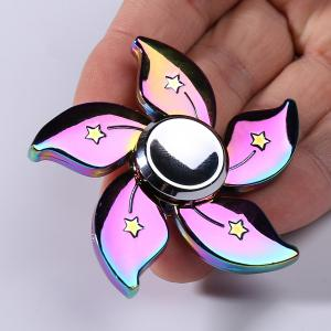 Time Killer Rainbow Floral EDC Metal Fidget Spinner - Colorful - 6*6cm