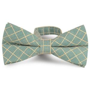 Cotton Blending Plaid Bow Tie
