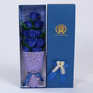 11 PCS Handmade Soap Rose Mother's Day Gift Artificial Flowers - Blue