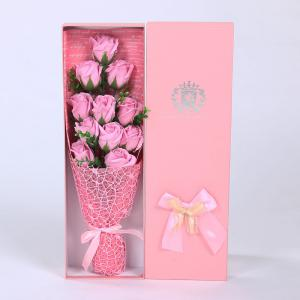 11 PCS Handmade Soap Rose Mother's Day Gift Artificial Flowers - Pink