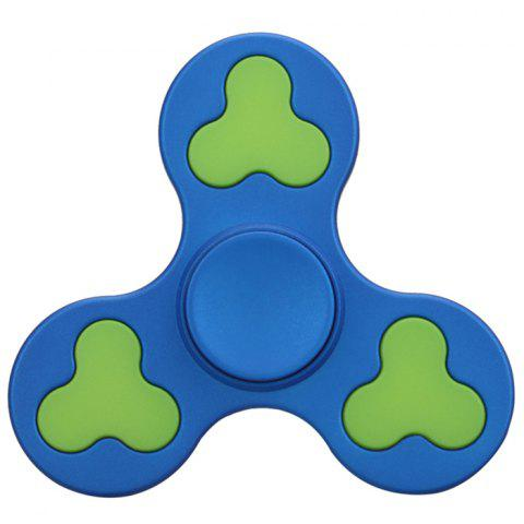 Fancy Stress Relief Toy Color Block Triangle Fidget Spinner BLUE