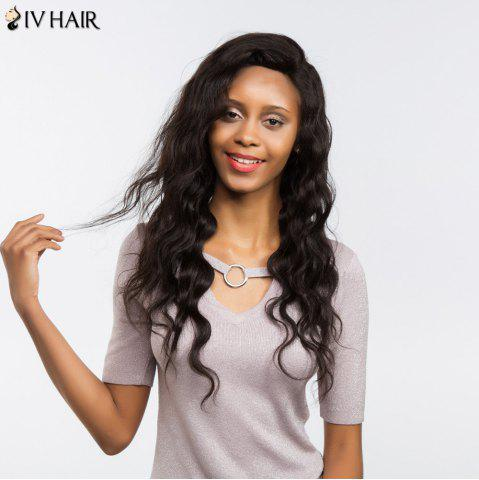 Outfits Siv Hair Free Part Long Loose Wave Perm Dyed Lace Front Human Hair - 22INCH BLACK Mobile
