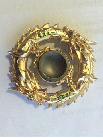 Best Dragon Ring Focus Toy Fidget Spinner Finger Gyro GOLDEN