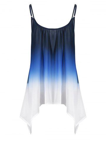 Shops Plus Size Chiffon Handkerchief Ombre Cami Top - 2XL BLUE Mobile