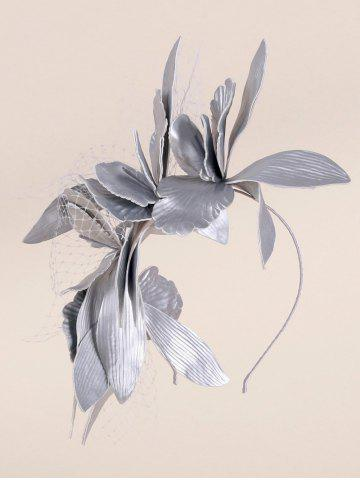 Discount Leaves Mesh Hairpin Fancy Feather Cocktail Hat - SILVER  Mobile
