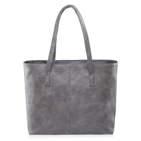 Shops Casual PU Leather Shoulder Bag GRAY