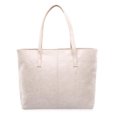 Sale Casual PU Leather Shoulder Bag - OFF-WHITE  Mobile
