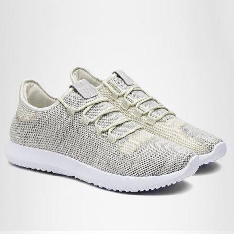Sale Lightweight Breathable Athletic Mesh Trainers - 43 BEIGE Mobile