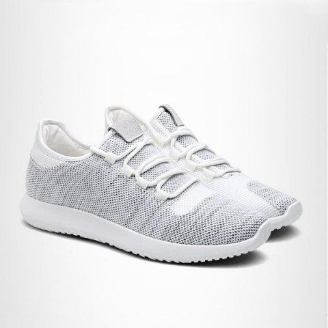 Lightweight Breathable Athletic Mesh Trainers - Light Gray - 40