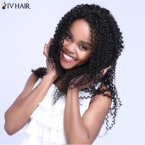 Affordable Siv Hair Free Part Long Jerry Curly Lace Front Human Hair Wig - 20INCH BLACK Mobile