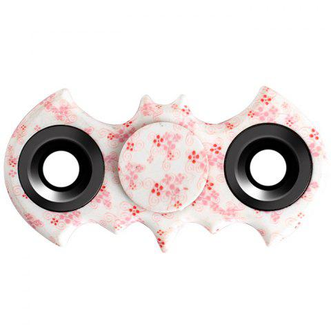 Fashion Stress Relief Fiddle Toy Bat Patterned Fidget Spinner PINK