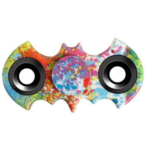 Stress Relief Fiddle Toy Bat Patterned Fidget Spinner - Red