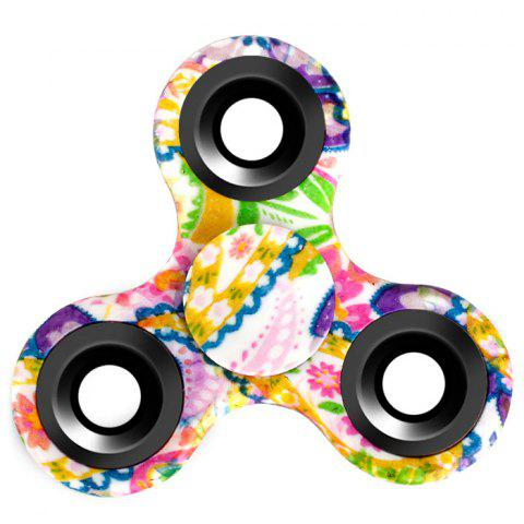 Stress Relief Fiddle Toy Triangle Patterned Fidget Spinner - CREAM