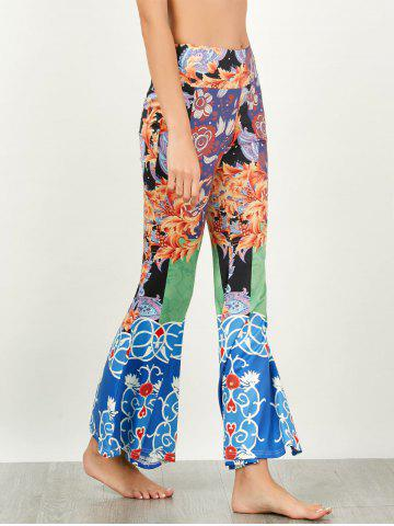 Store Baroque Print High Waisted Flared Pants - XL COLORMIX Mobile