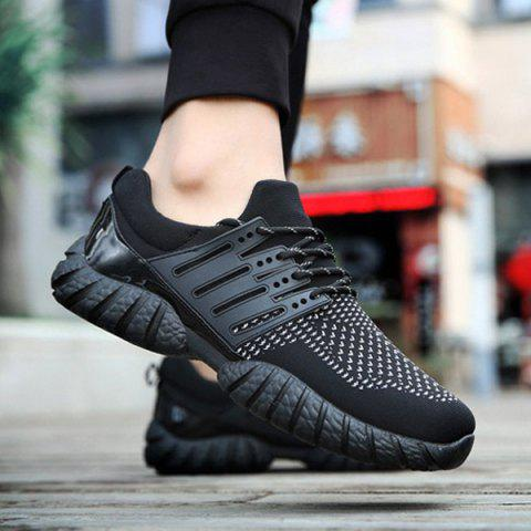 Fashion Breathable Color Block Athletic Shoes BLACK 40