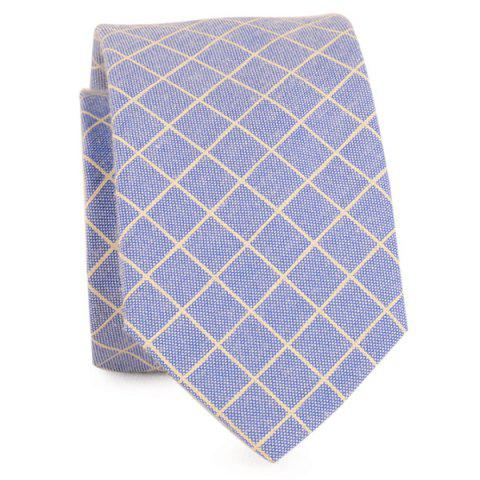 Sale Cotton Blended Plaid Neck Tie