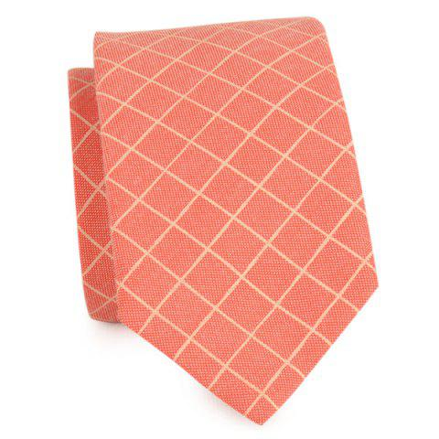 Discount Cotton Blended Plaid Neck Tie
