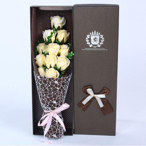 Chic 11 PCS Handmade Soap Rose Mother's Day Gift Artificial Flowers