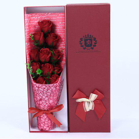 Latest 11 PCS Handmade Soap Rose Mother's Day Gift Artificial Flowers